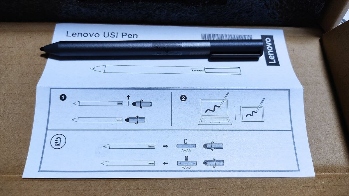 Lenovo Chromebook Ideapad Duetで使えるUSIペンと取説
