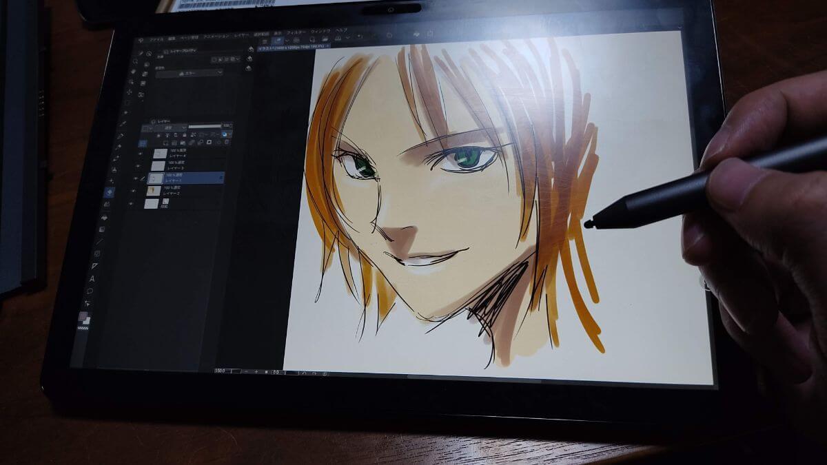 Chromebook Lenovo IdeapadDuetとUSIペンを使ってCLIP STUDIO PAINTにお絵かき・イラストレーション