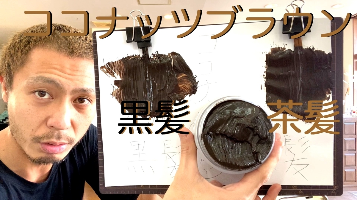 【カラーバター ココナッツブラウン】黒髪と茶髪に染め比べ