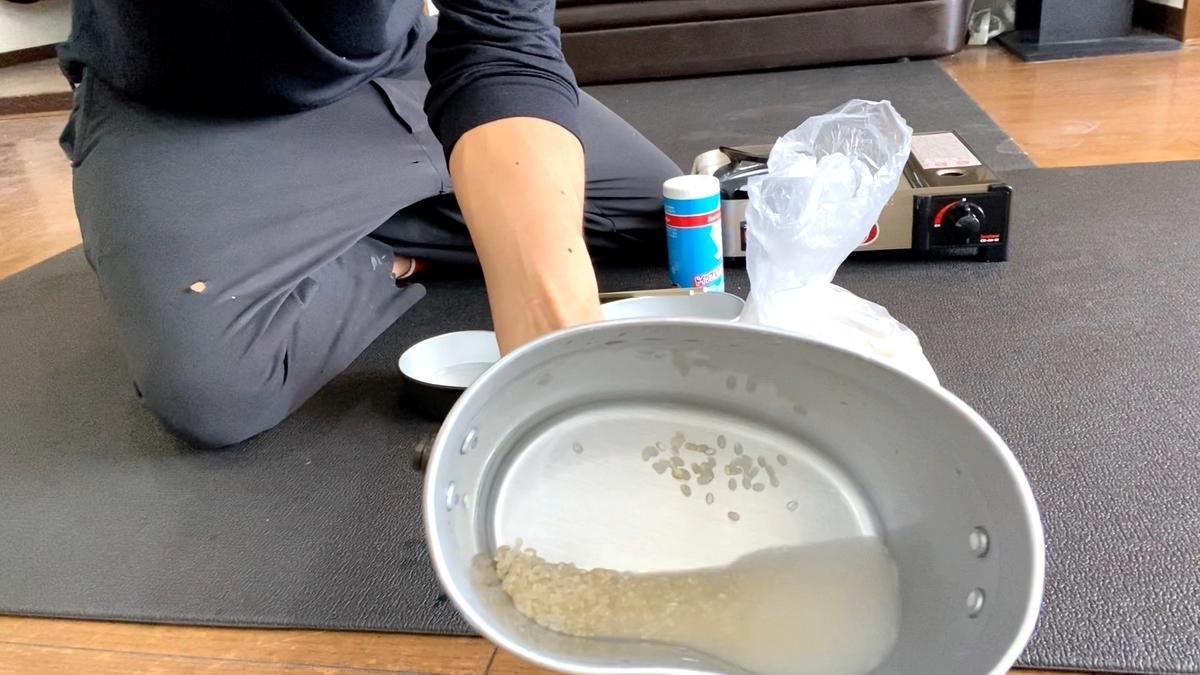 【美容室で飯盒飯】飯盒でお米を飯盒炊爨し食べてみた