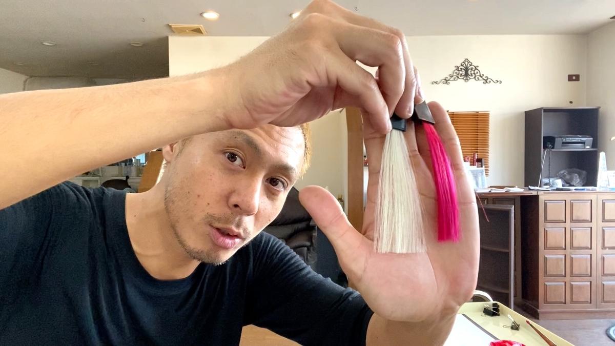 【カラーバターのリアルレッド】白髪に染めた仕上がり