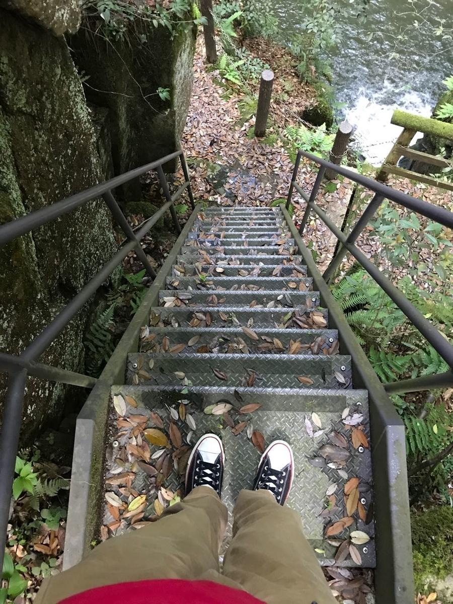 階段上から