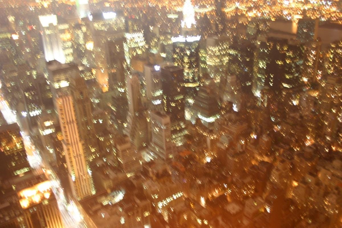 ニューヨークの手ぶれ夜景