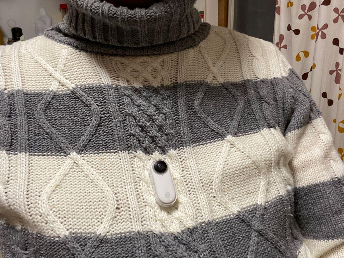 厚手のセーターの上からもくっつく