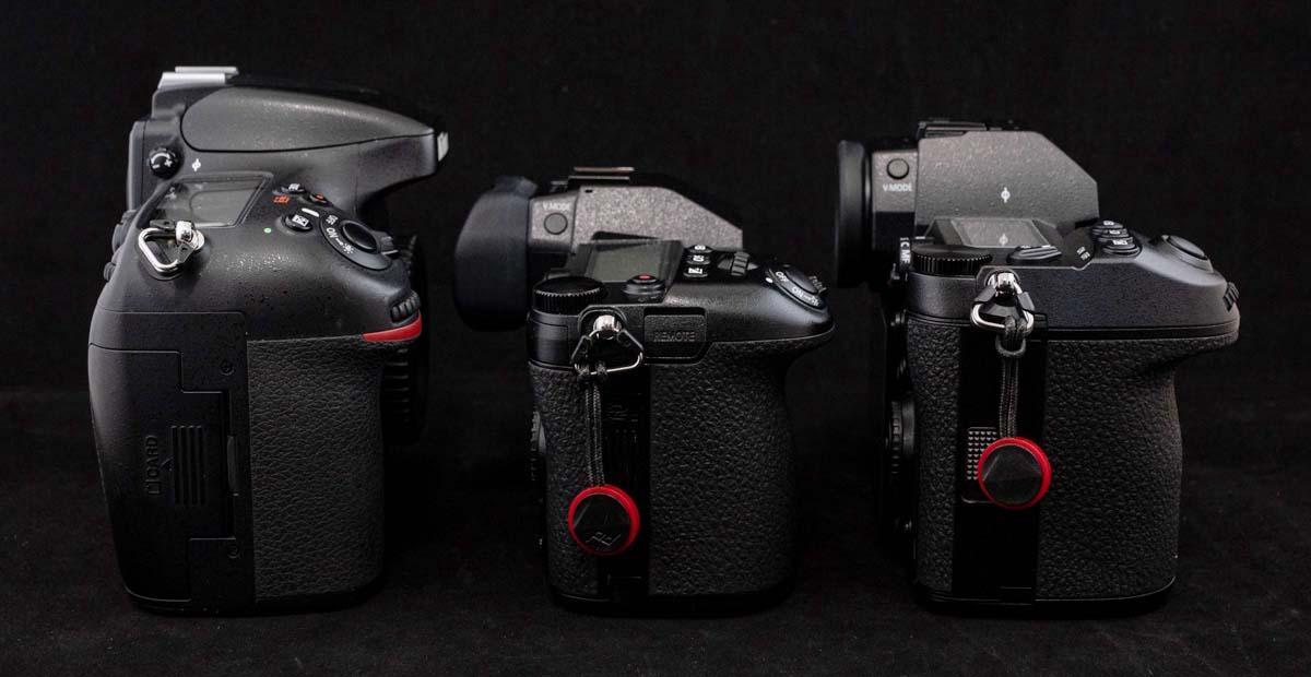 左からD800E、G9 PRO、S1R