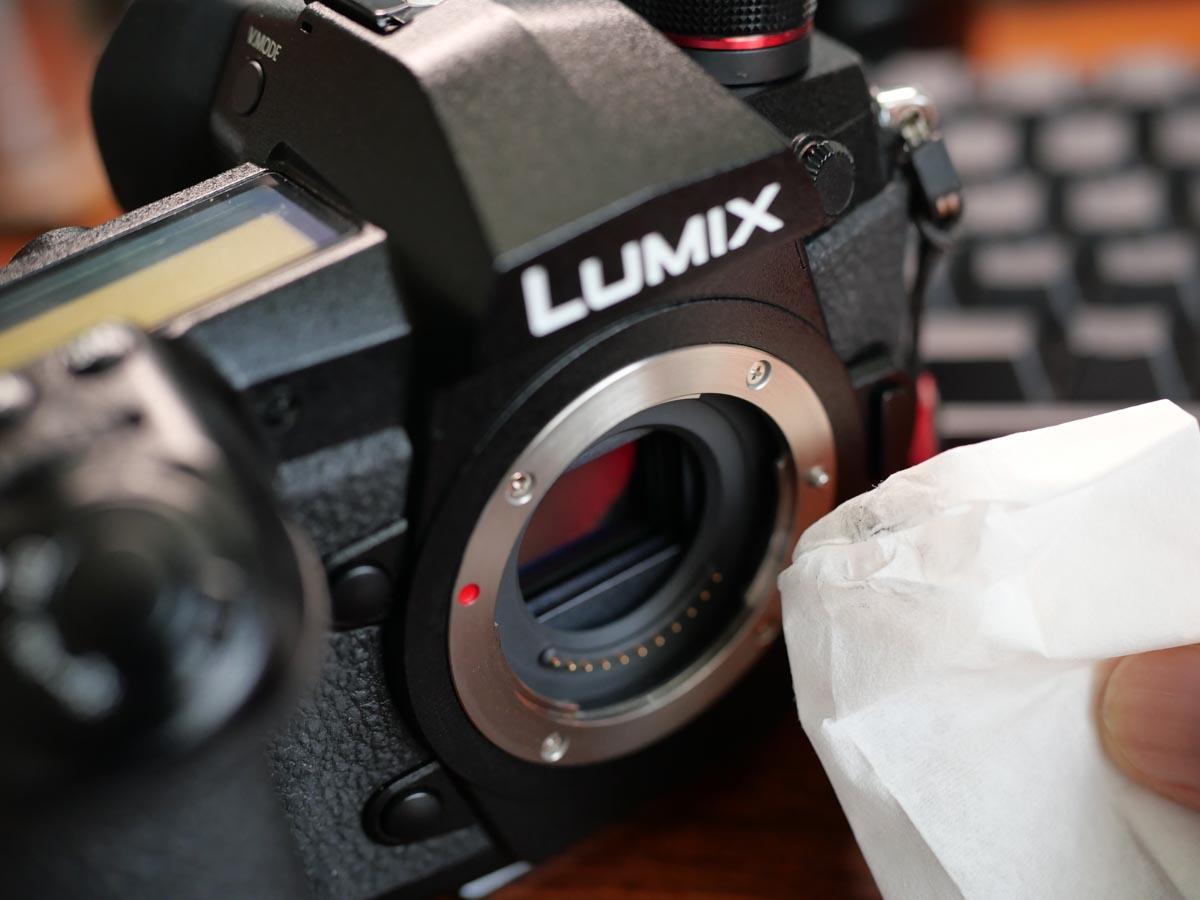 カメラマウント部掃除