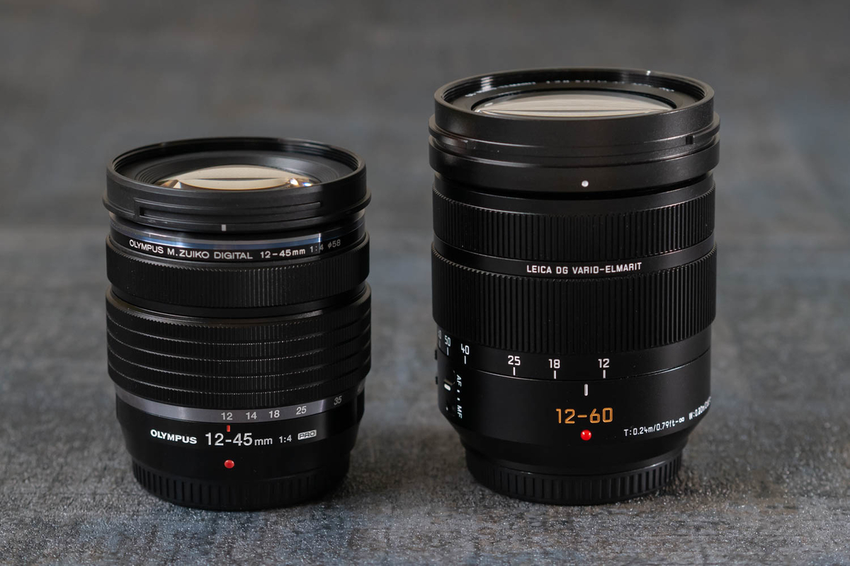 12-60mm/F2.8-4.0との比較 フードなし縮時