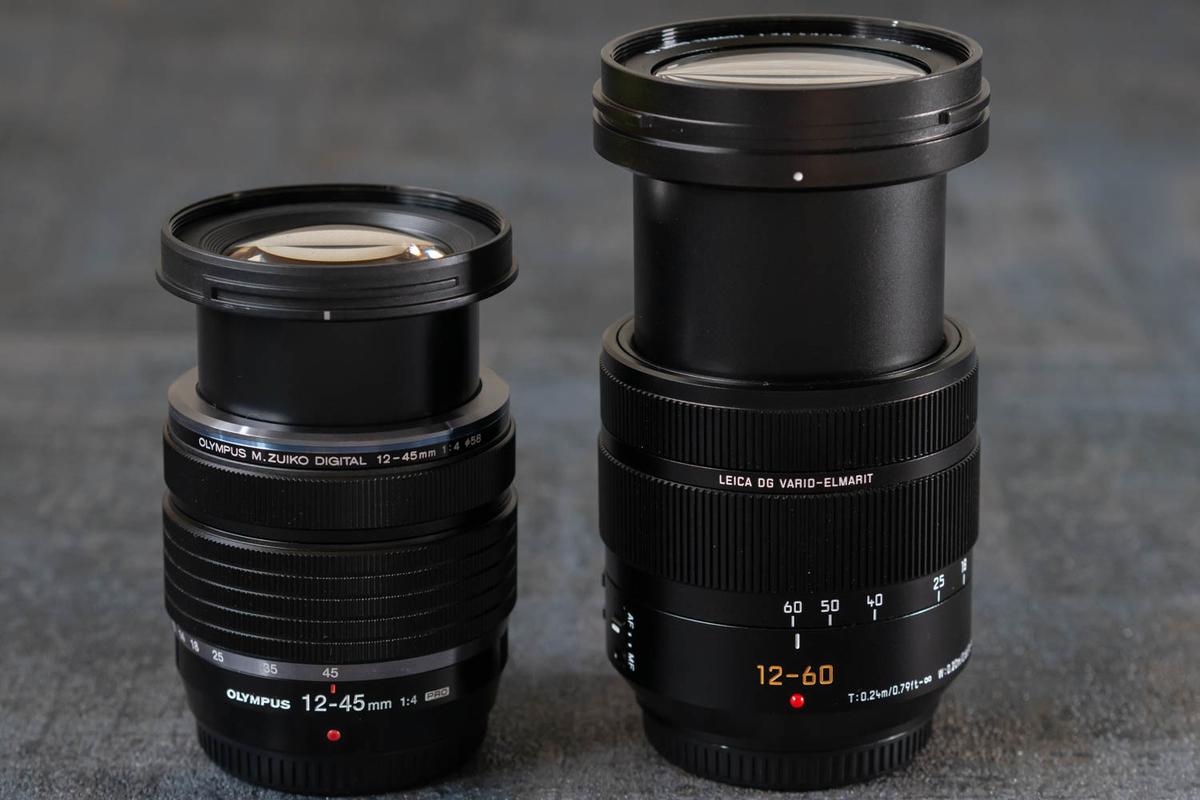 12-60mm/F2.8-4.0との比較 伸時 フードなし