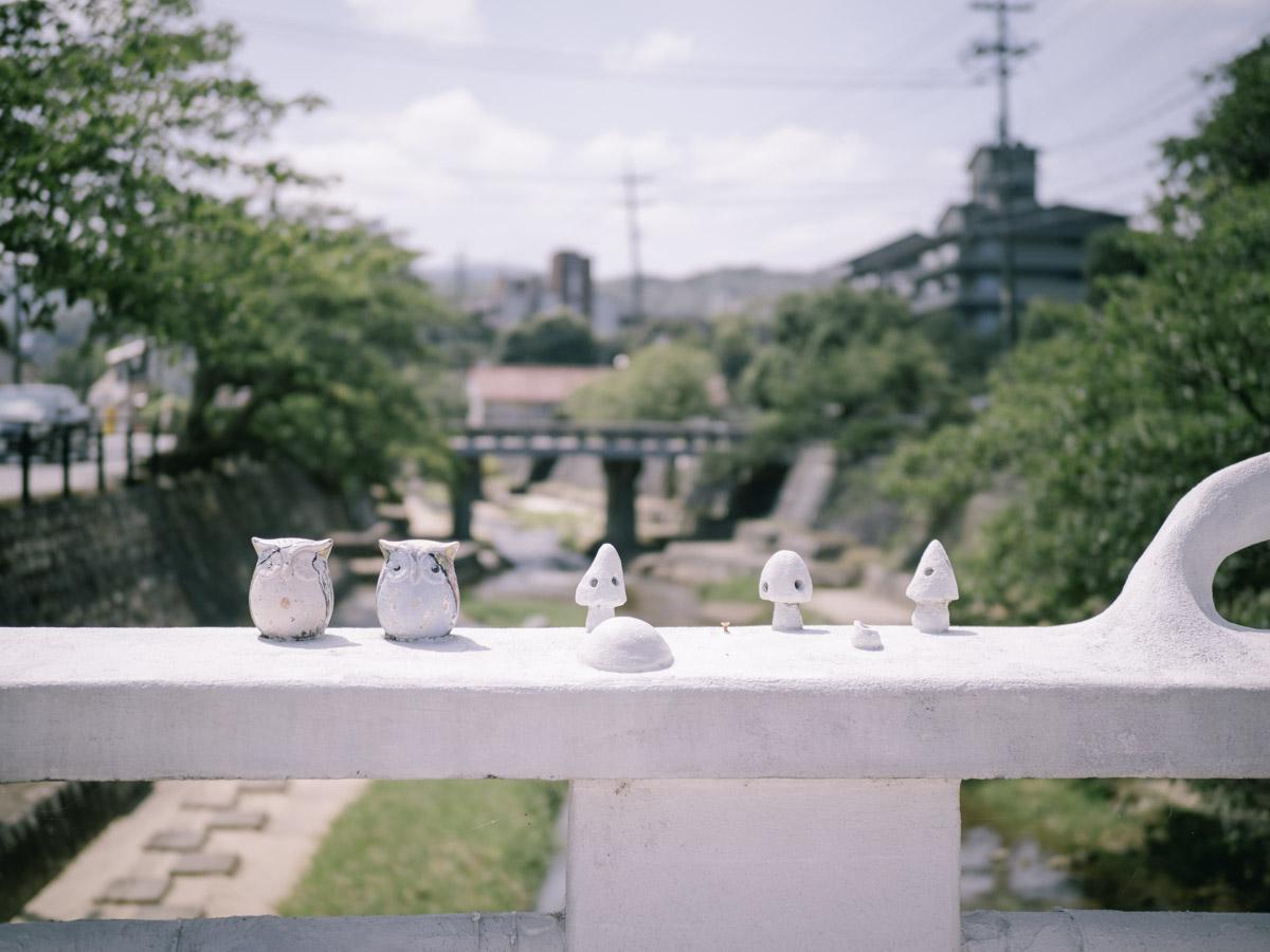 橋の欄干にも可愛いオブジェ