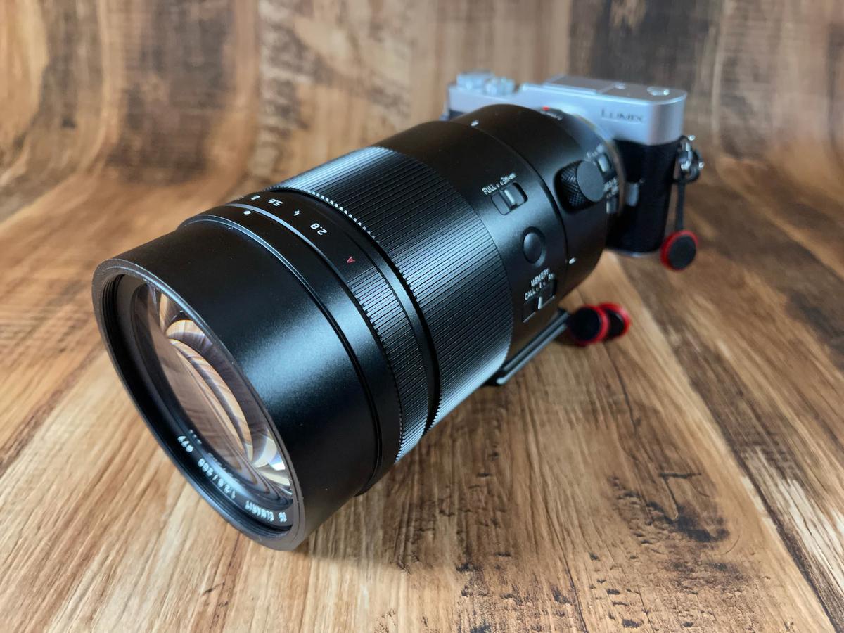 GF9と200mmF2.8の組み合わせ