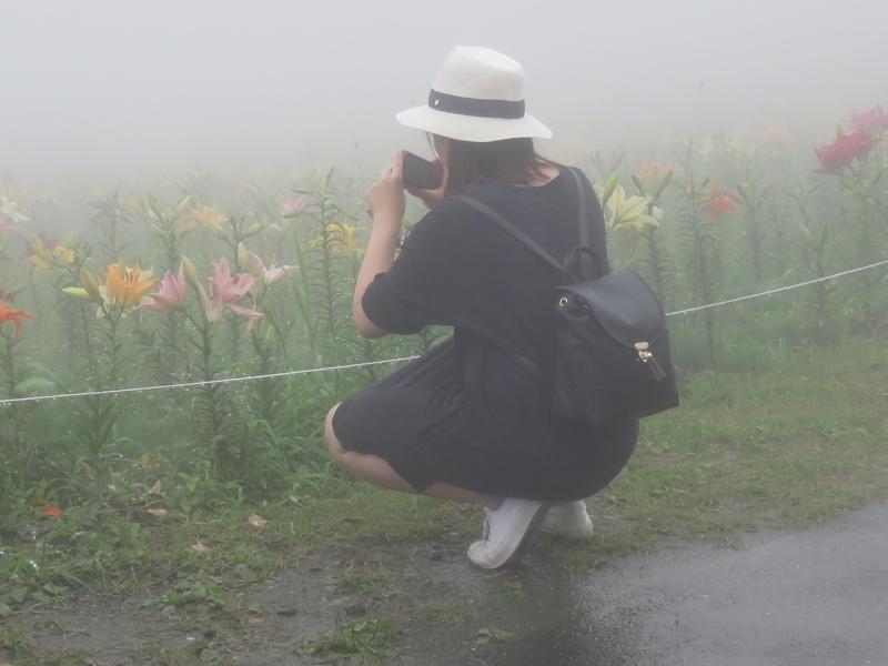 京都新聞写真コンテスト 霧の中の小女