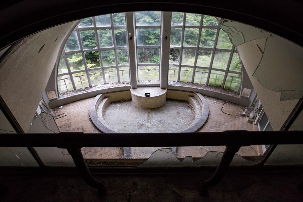 上から見下ろす風呂場