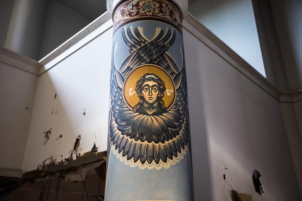 装飾された柱