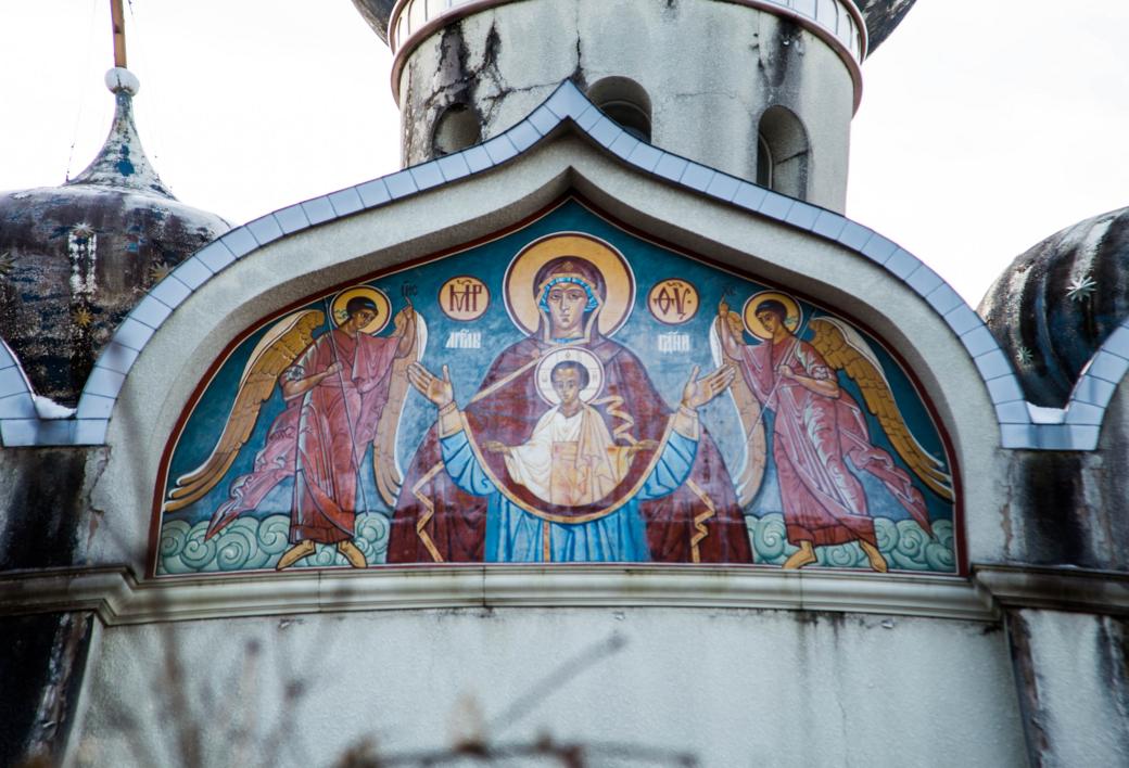 ロシア伝統の壁画