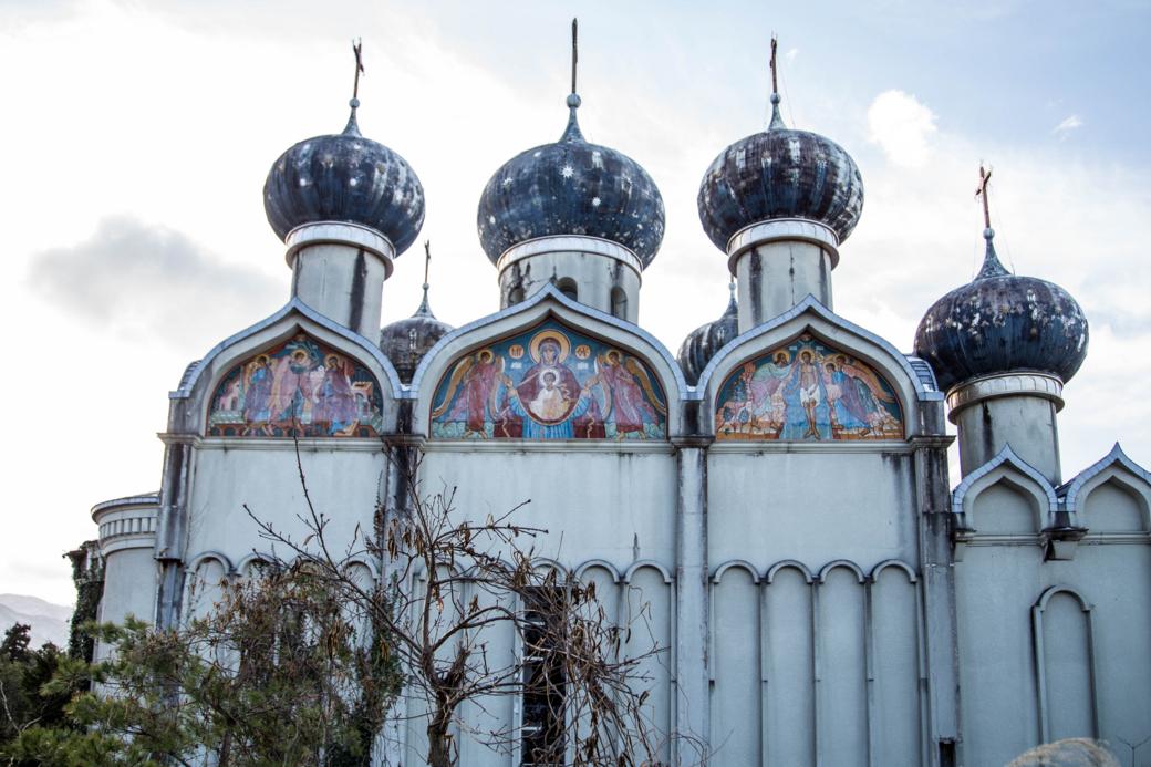 正面から見たスーズダリ教会