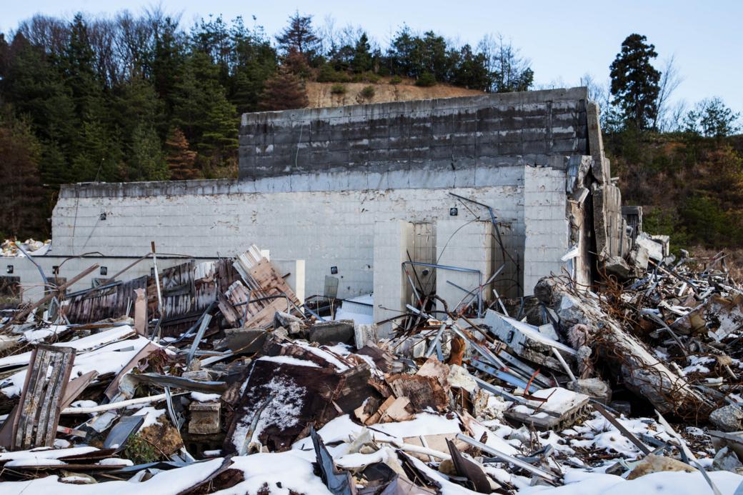 入浴施設と思われる廃墟