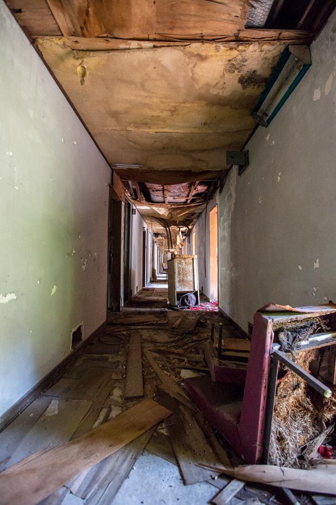 モテル北陸の二階の廊下
