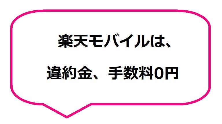 楽天モバイルは、違約金、手数料0円