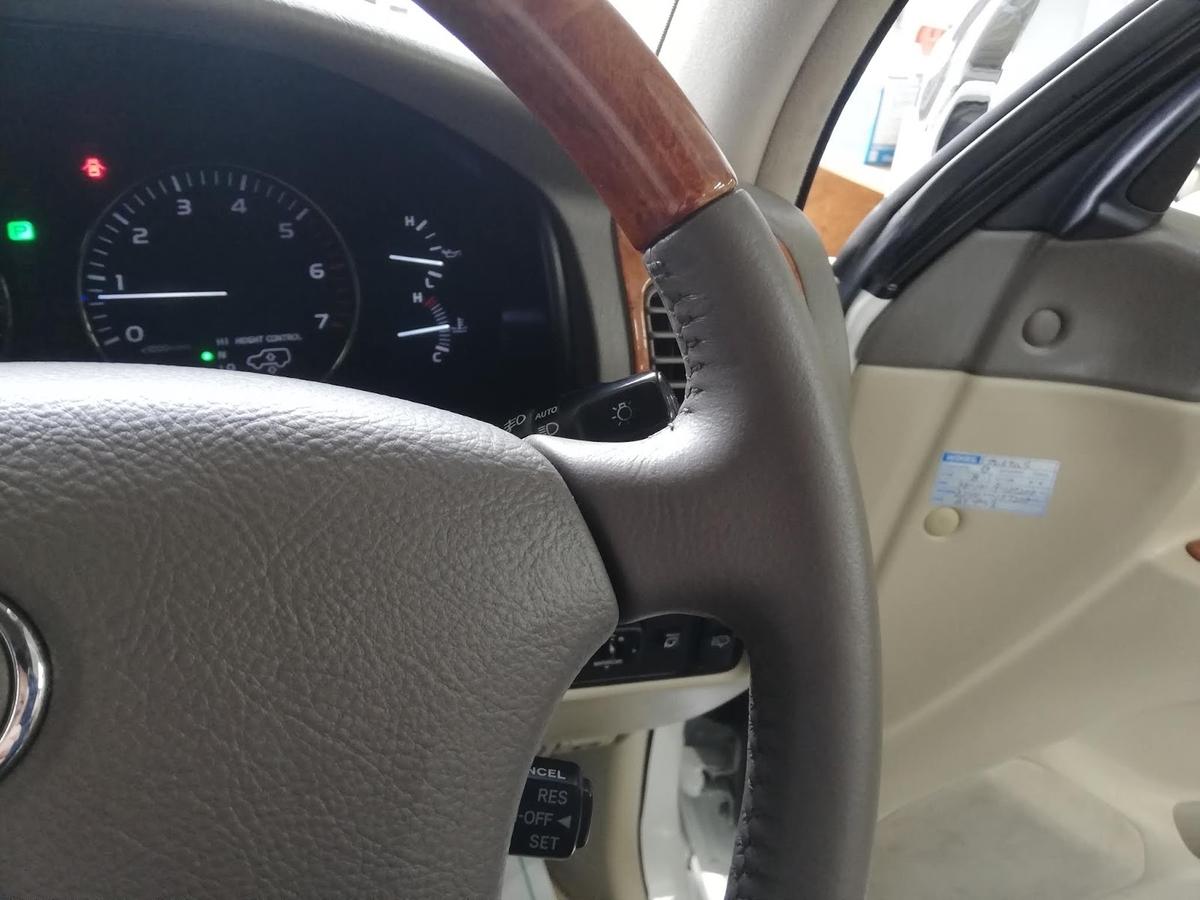 トヨタ/ランドクルーザー ウッドコンビハンドルの劣化・擦れ・破れ