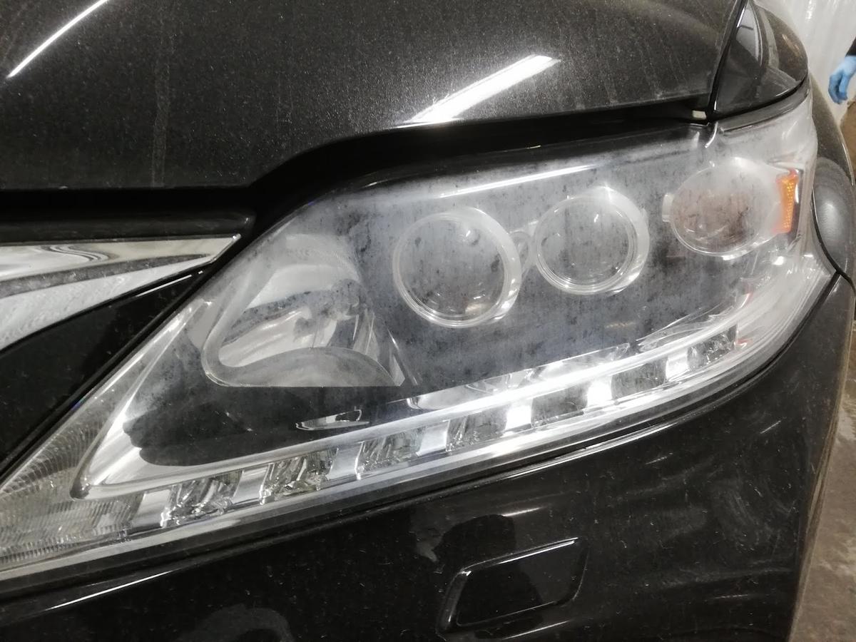 レクサス/RX450h FSPORT ヘッドライトの劣化+くすみ復元リペア1