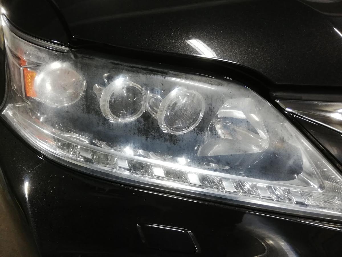 レクサス/RX450h FSPORT ヘッドライトの劣化+くすみ復元リペア3