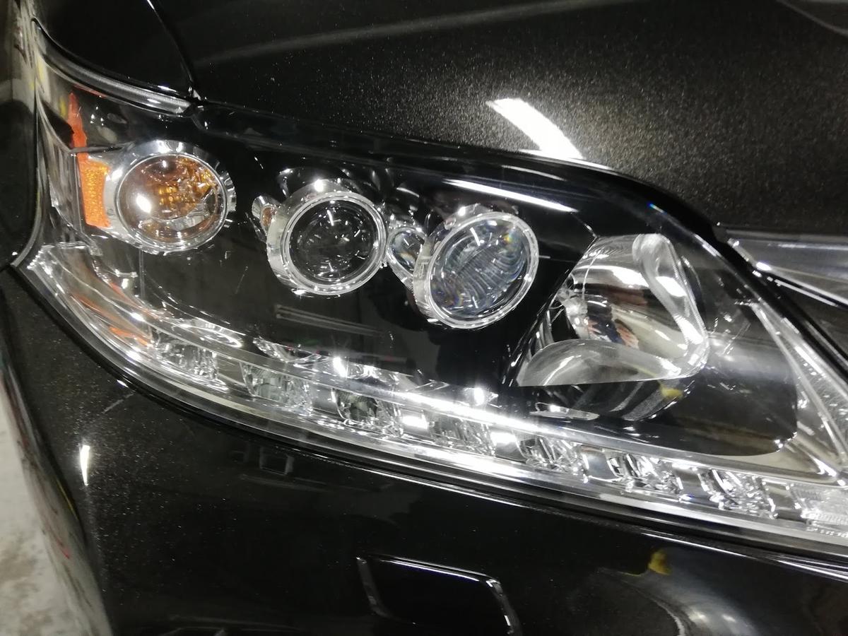 レクサス/RX450h FSPORT ヘッドライトの劣化+くすみ復元リペア4