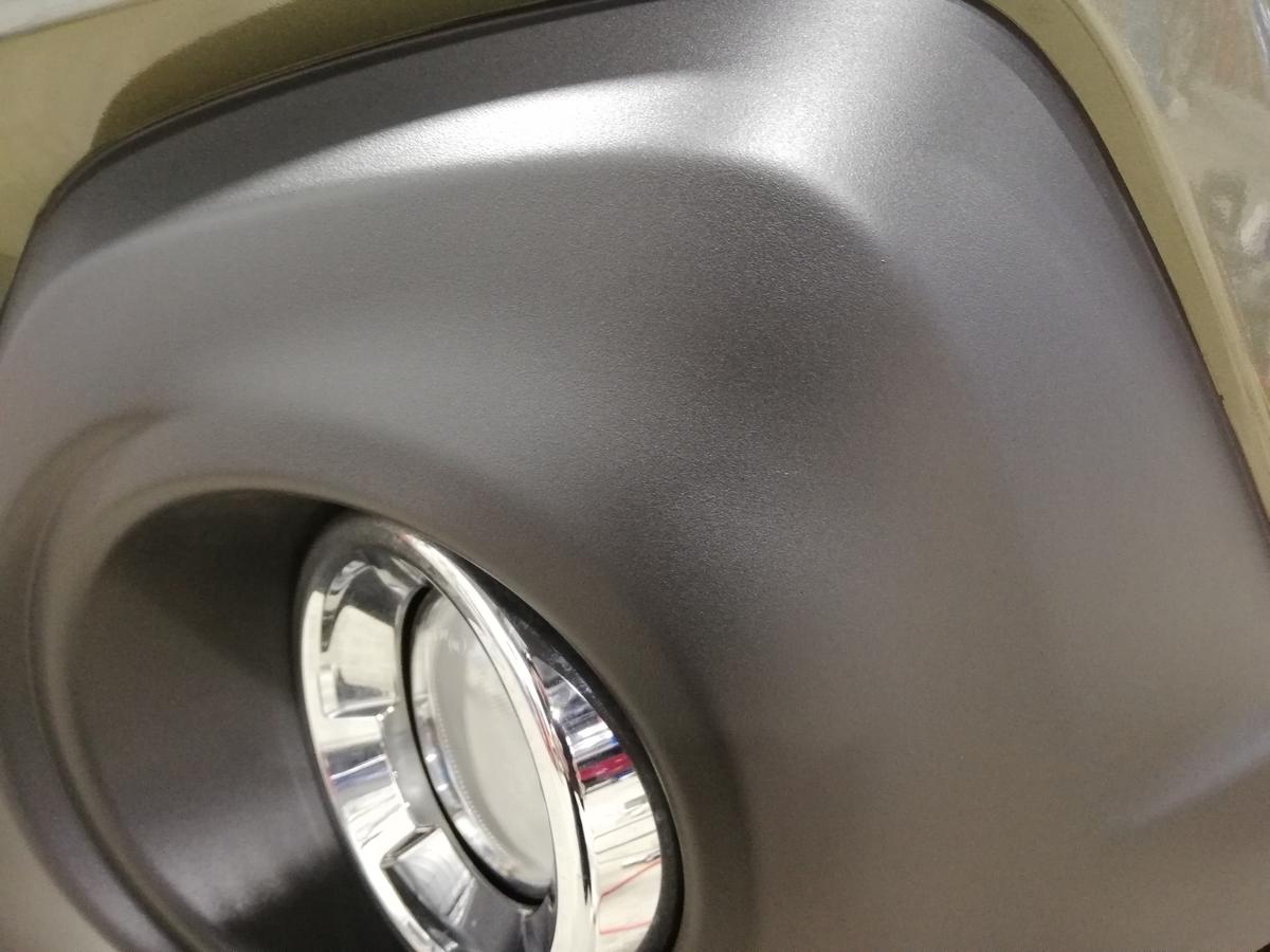 スバル/レガシィアウトバック バンパー未塗装素地部の擦り傷補修 札幌1