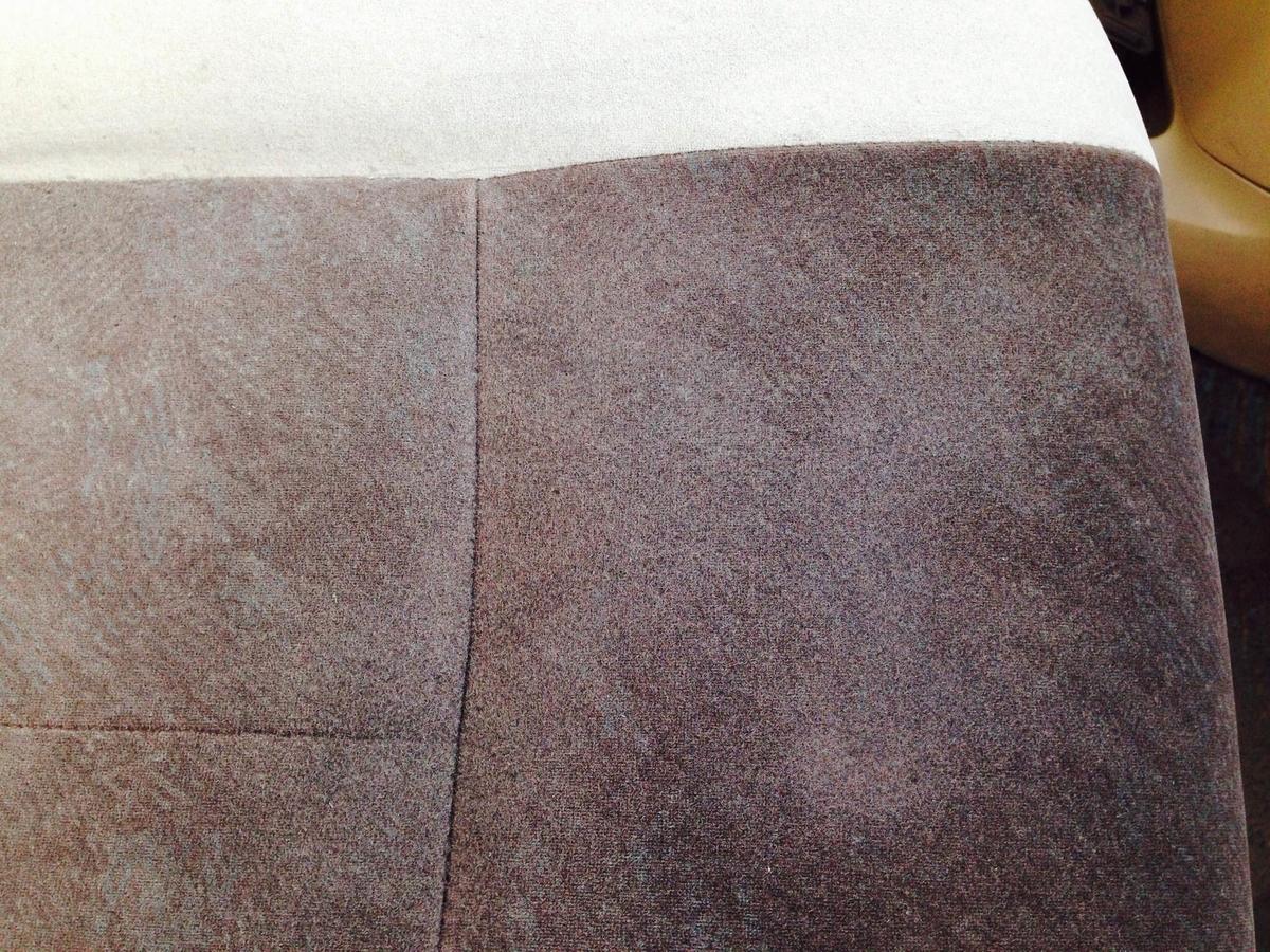 トヨタ/グランビア モケットシート座面+アームレストのタバコ焦げ穴補修3