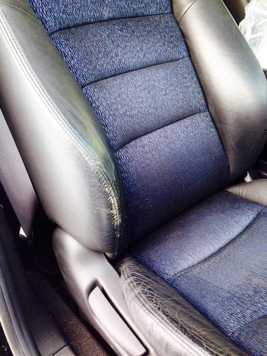 ホンダ/オデッセイ レザーシート擦れによる色抜け補修