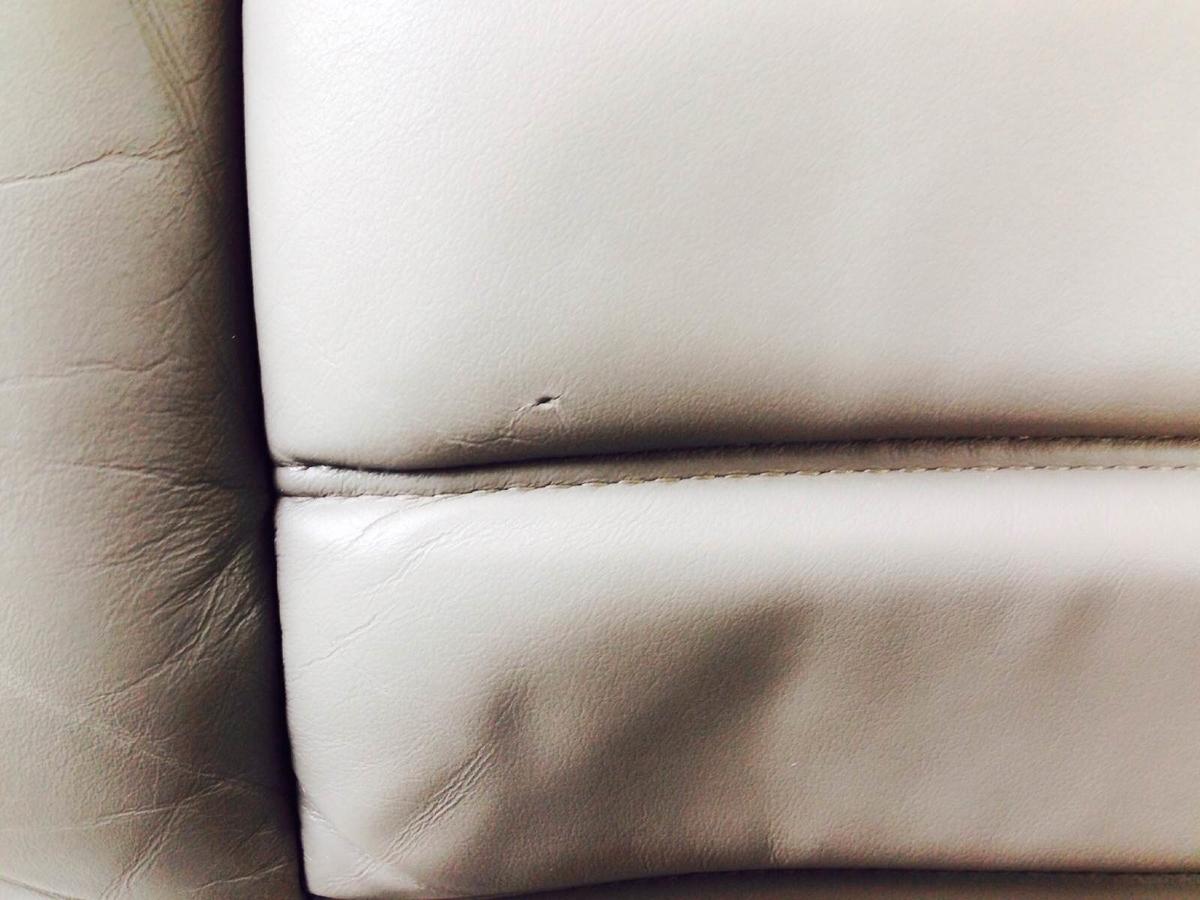 GM/ハマーH2 革レザーシート擦れ・穴傷の補修2
