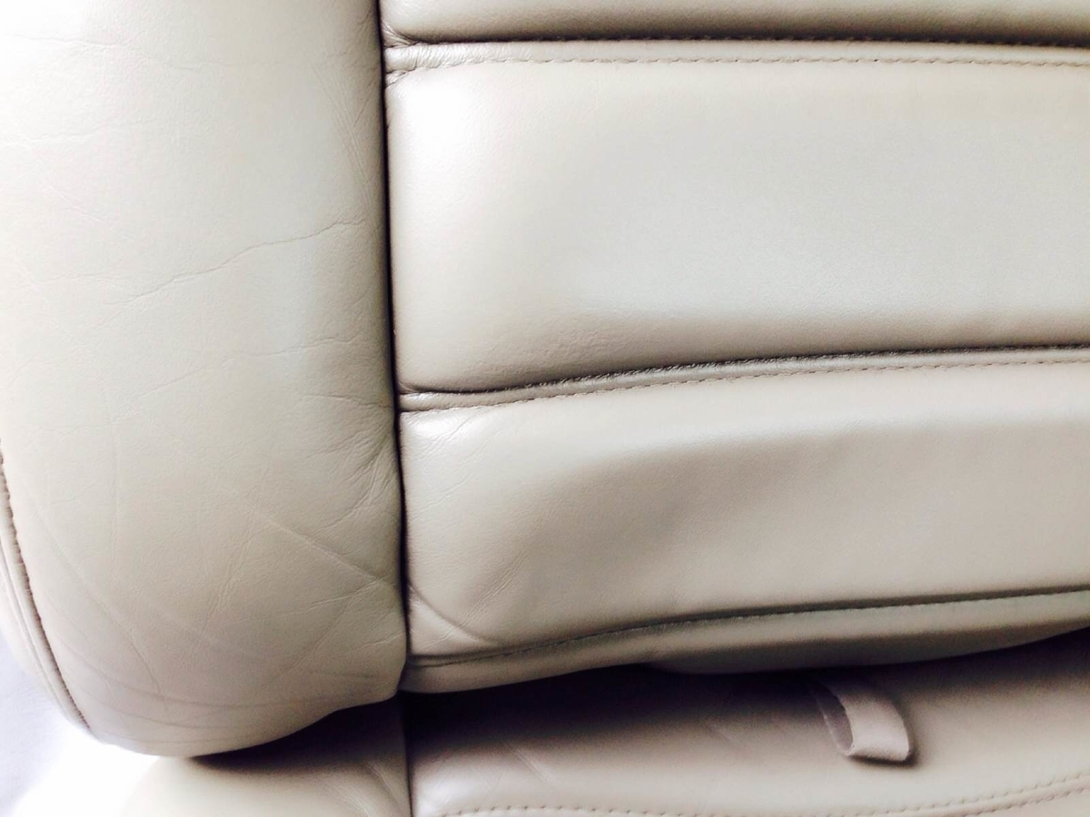 GM/ハマーH2 革レザーシート擦れ・穴傷の補修3