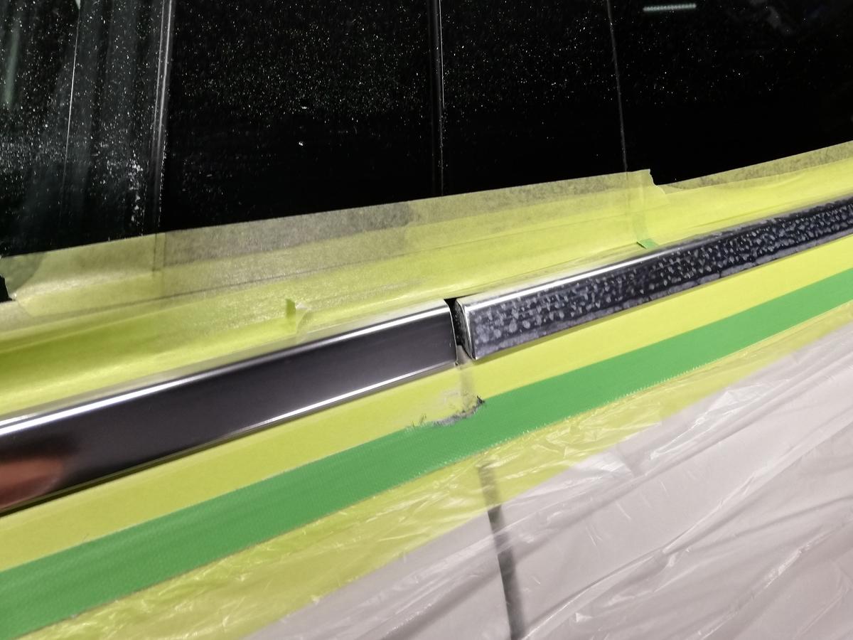 輸入車メルセデス・ベンツ/GLA250 アルミメッキモール腐食磨き+コーティング4