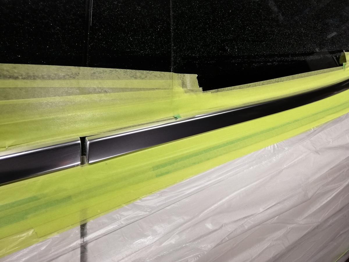 輸入車メルセデス・ベンツ/GLA250 アルミメッキモール腐食磨き+コーティング5