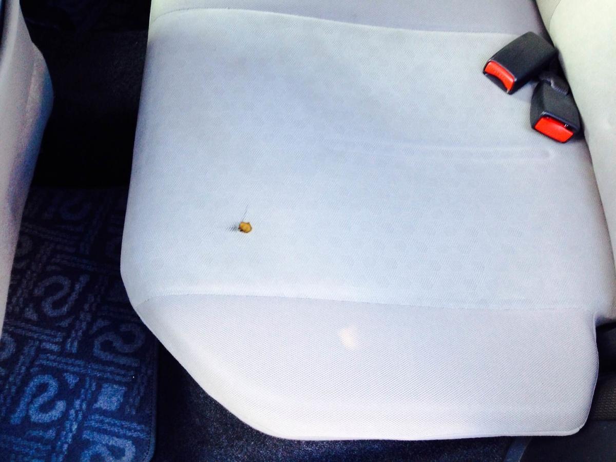 トヨタ/イスト モケットシート タバコ焦げ穴の補修
