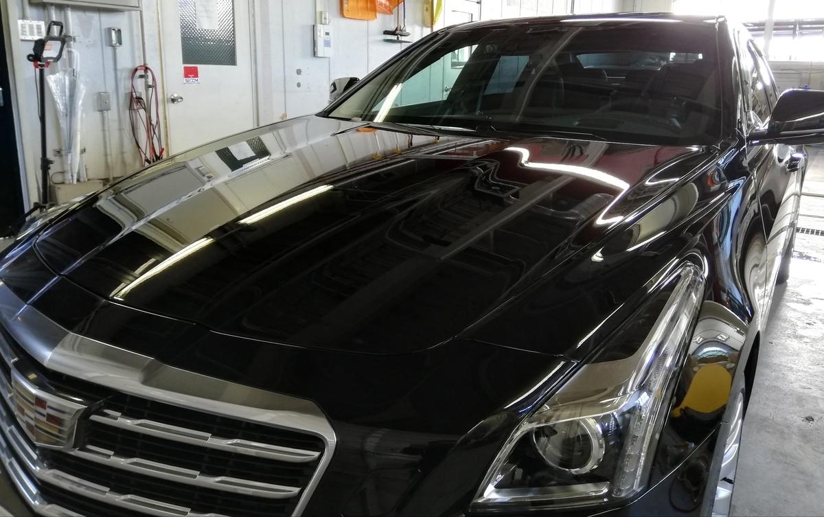 キャデラック/CTS 新車軽研磨+樹脂硬化型ボディーコーテイング 札幌