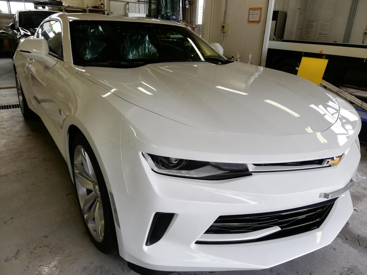 シボレー/カマロRS新車 ボディ研磨+樹脂硬化型ボディーコーテイング 札幌