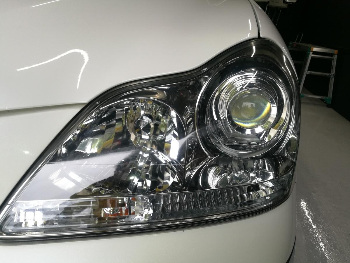 トヨタ/クラウンマジェスタ ヘッドライト研磨+再劣化防止コーティング 札幌