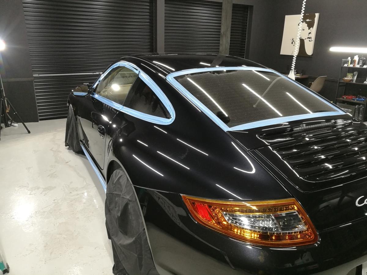 ポルシェ/911カレラ4S 樹脂硬化型ボディコーティング(プロコース)札幌