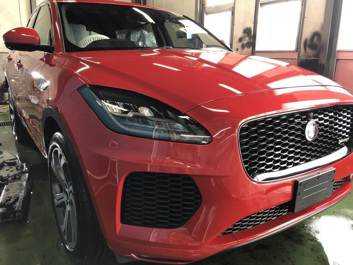 ジャガー/E-PACE 新車車内クリーニング+フッ素樹脂簡易コーティング 札幌