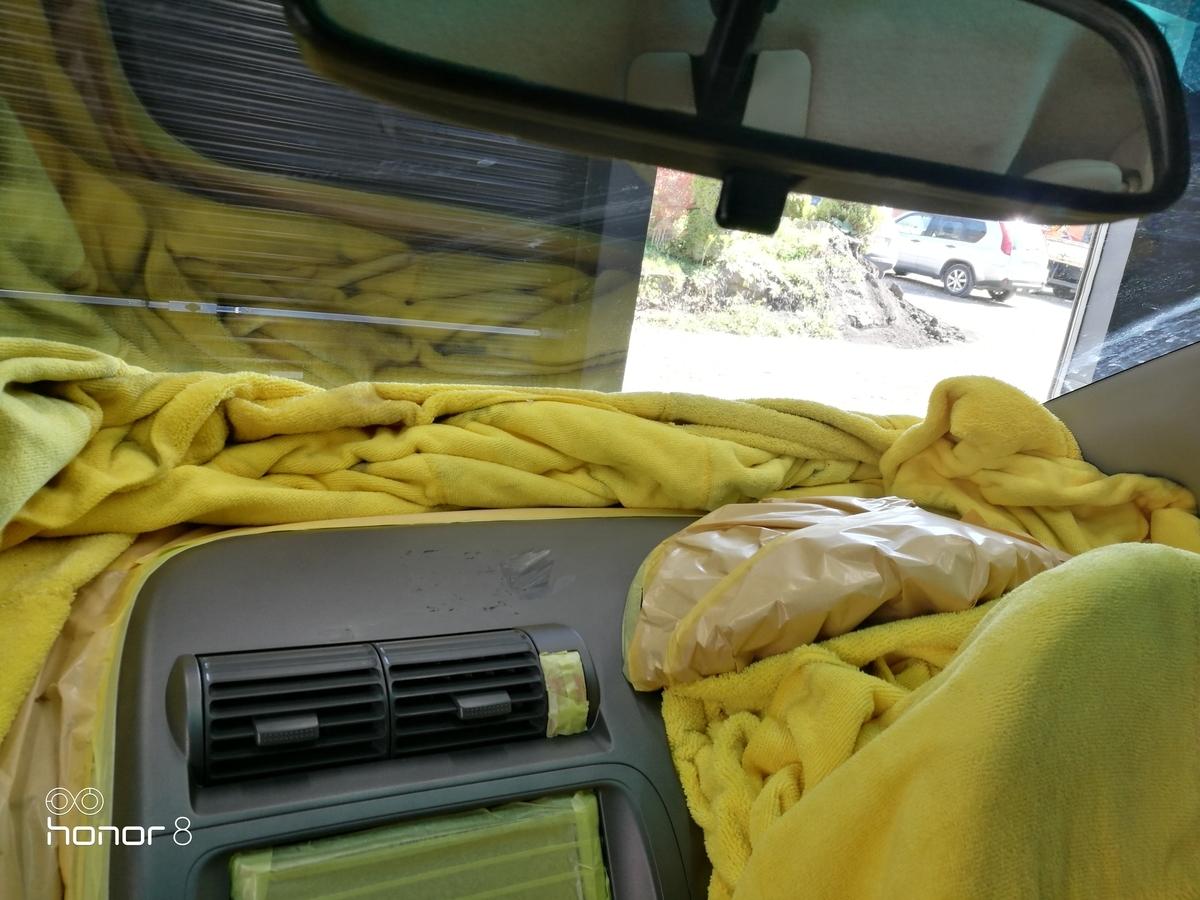 ホンダ/フィット ダッシュボードのひっかき傷補修 札幌