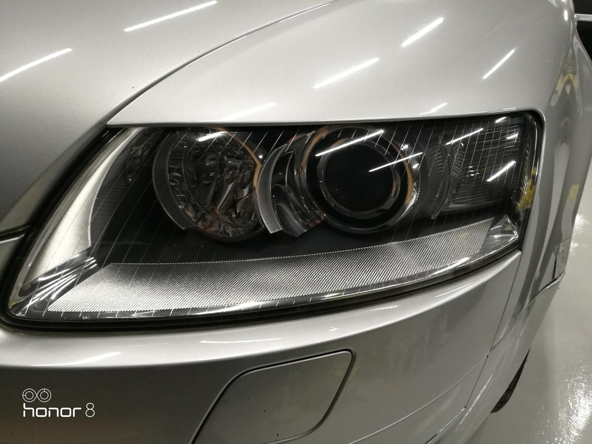 アウディ/A6アバント ヘッドライトリペア 劣化・黄ばみ・くすみの研磨+コーティング 札幌
