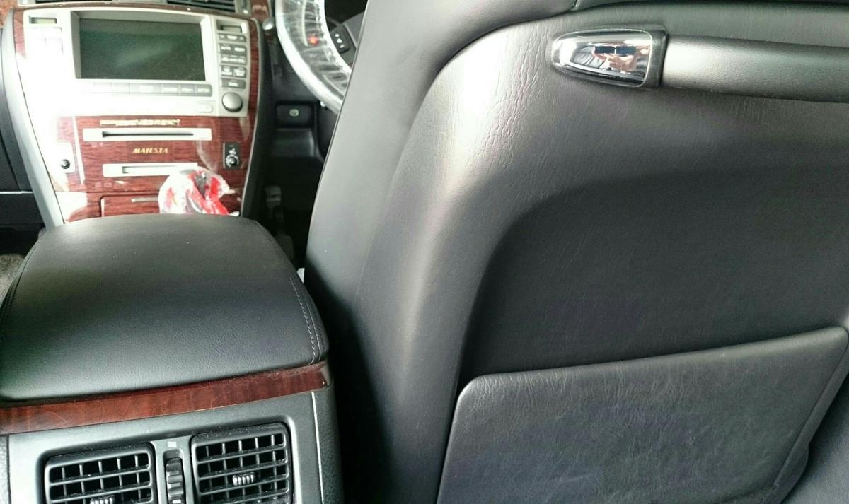 トヨタ/クラウン マジェスタ シート背面 ひっかき傷の補修札幌1