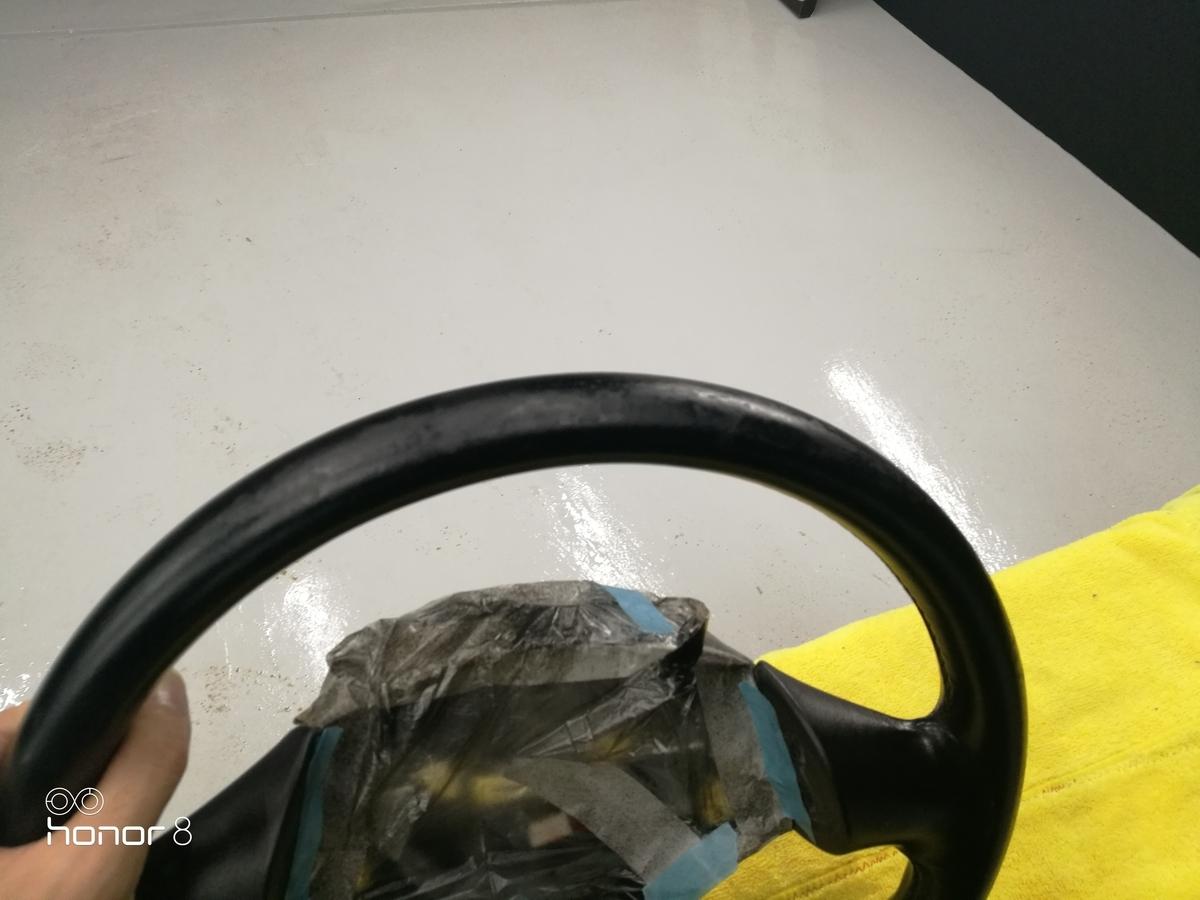 マツダ/RX7 FD3S ハンドル擦れ補修 札幌
