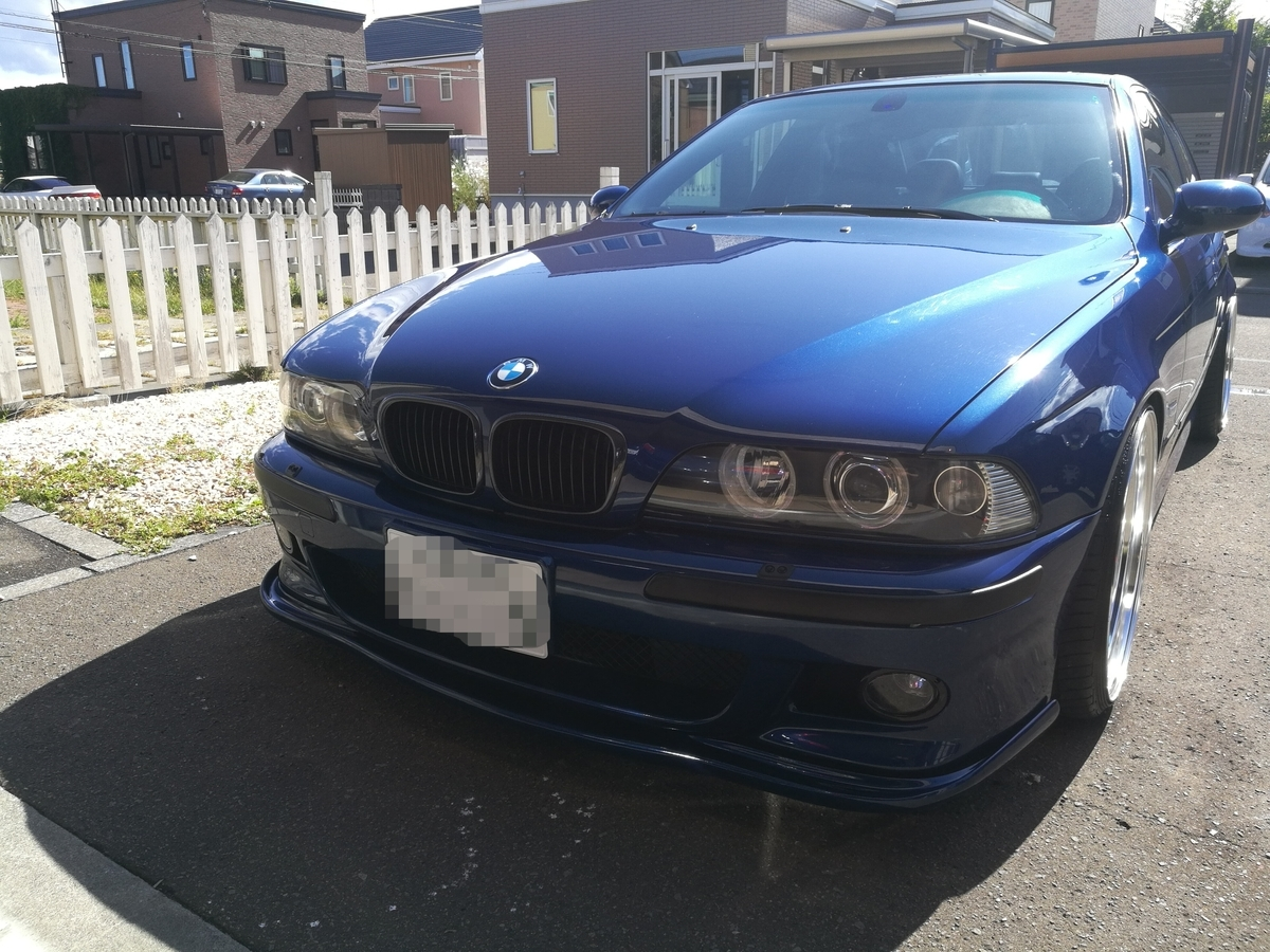 BMW/M5(E39型) レカロシートひっかき傷の補修 札幌