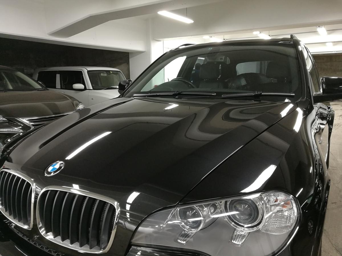 BMW/X5 ボディ磨き+超撥水ボディガラスコーティング 札幌