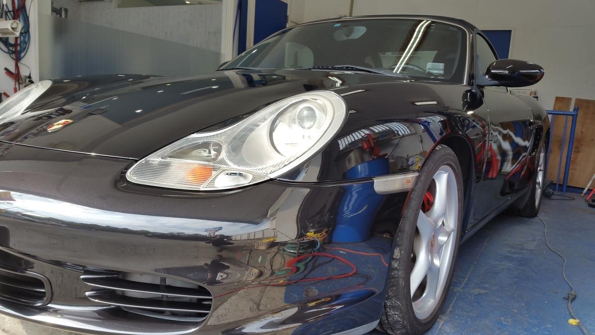 Porsche/BoxterS 研磨+フッ素樹脂結合系コーティング+硬化系オーバーコーティング 札幌