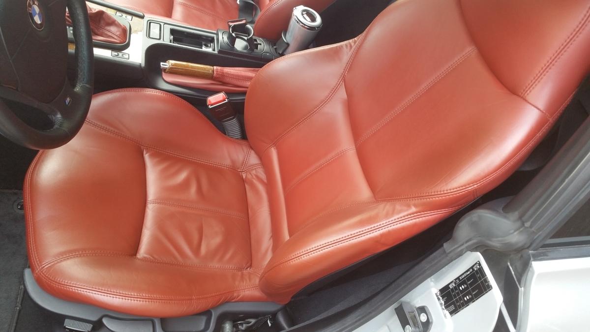 BMW/Z3 レザーシート擦れ・破れ補修 札幌