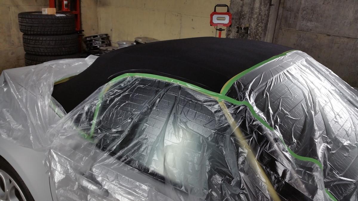マツダ/ロードスター フッ素樹脂結合型コーティング+硬化系オーバーコーティング、幌コーティング、ヘッドライトコーティング、ホイールコーティング、樹脂パーツコーティング 札幌