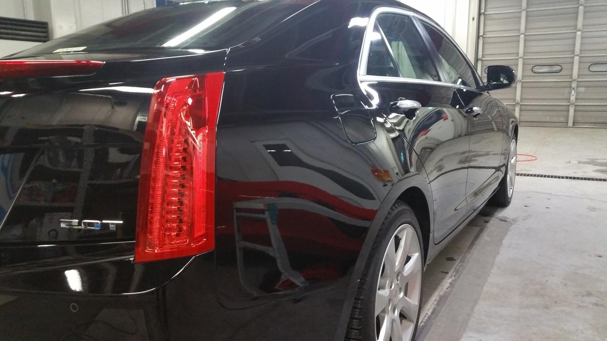 キャデラック/ATS luxury 磨き+フッ素樹脂結合型ボディコーティング札幌1