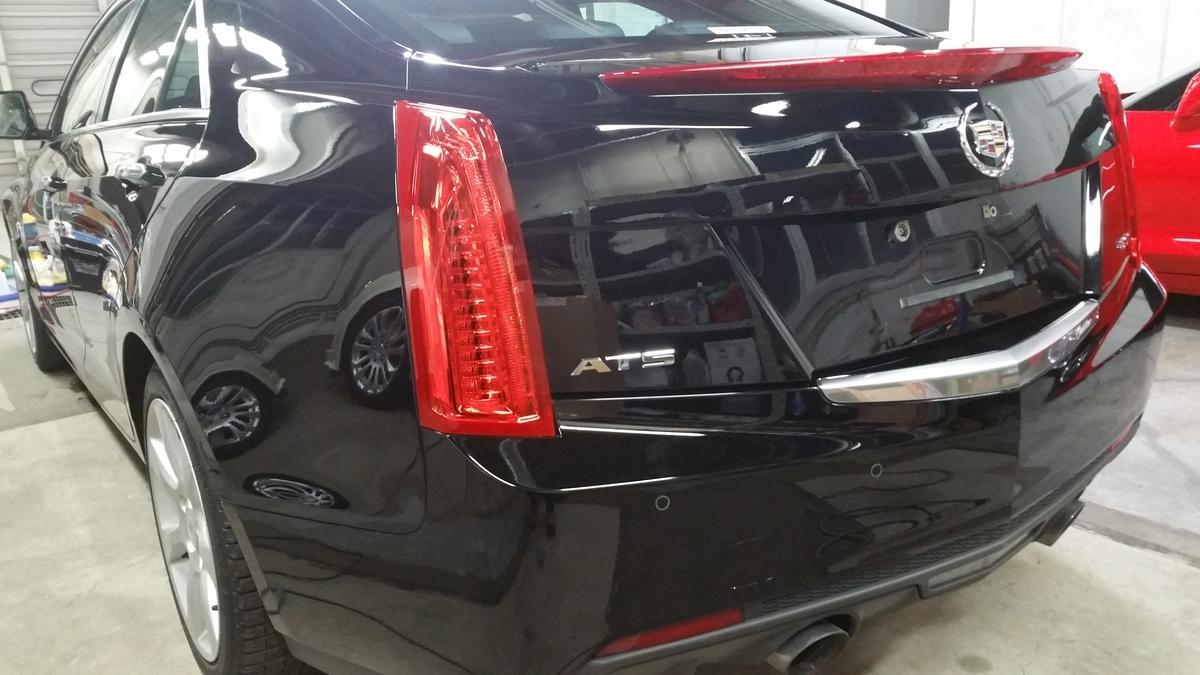 キャデラック/ATS luxury 磨き+フッ素樹脂結合型ボディコーティング札幌2